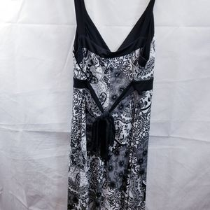 AGB DRESS, black white, haltertop,size 12